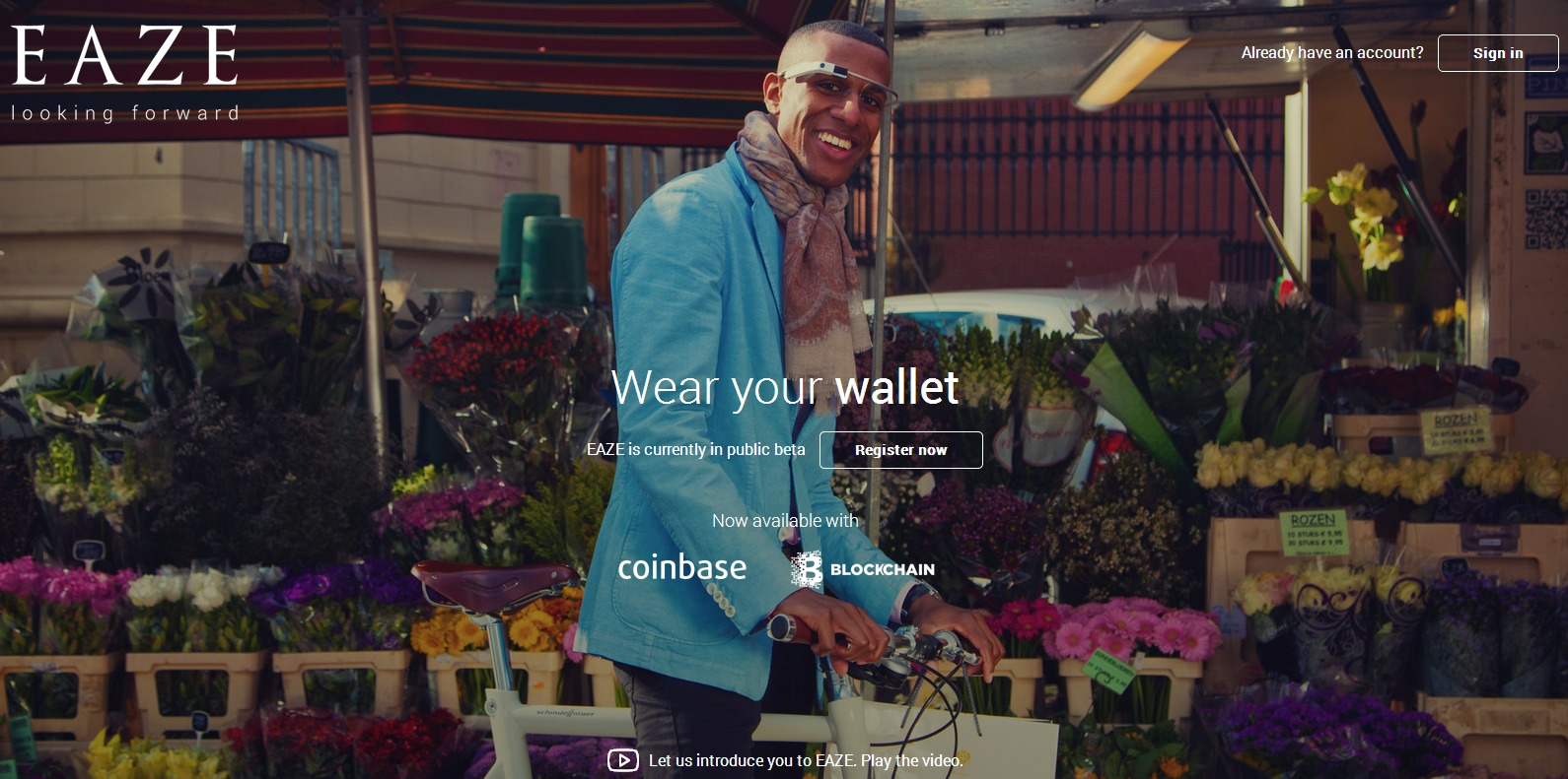 """EAZE   Introducing """"Nod To Pay"""" service combining Google Glass and Bitcoin"""
