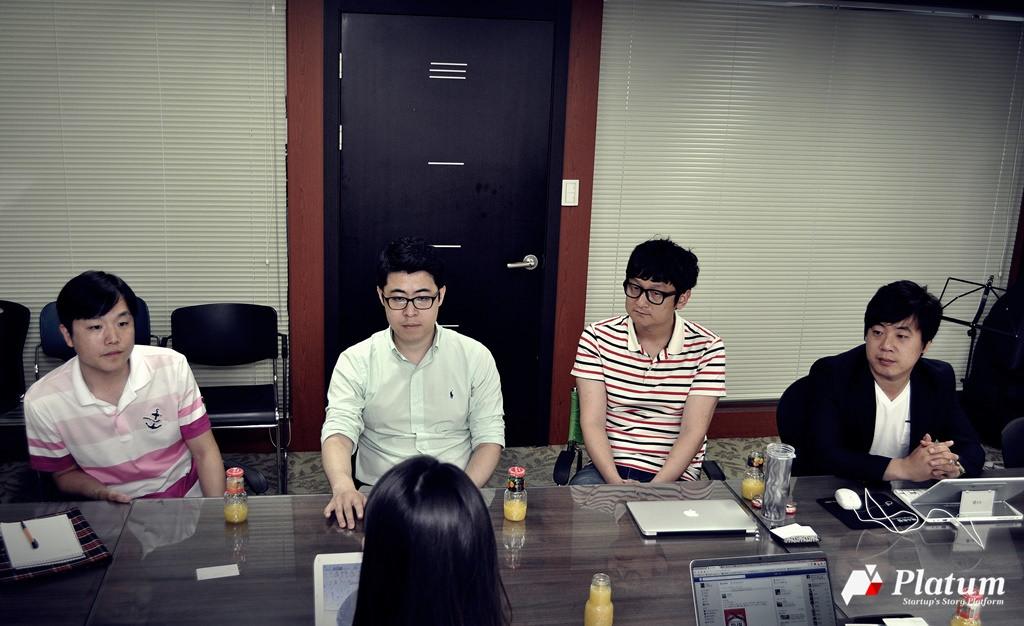 (왼쪽부터) 장대규 대표, 정연 부대표, 최재석 이사, 이정구 이사