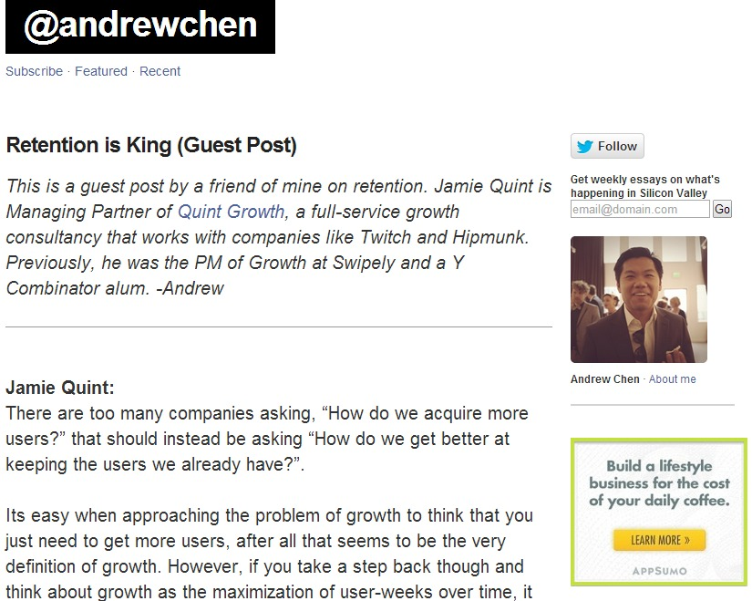 Retention is King  Guest Post