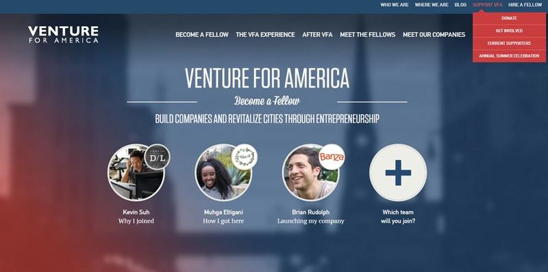 Venture for America Home   Venture for America