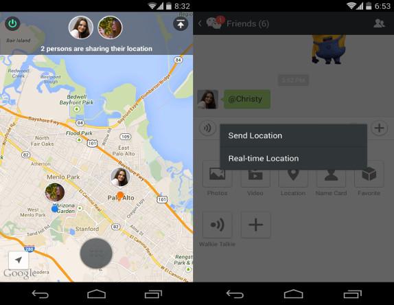 WeChat-location-sharing
