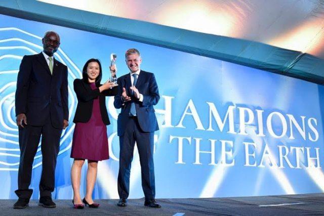 모바이크, 공로 인정받아 유엔 지구환경대상 수상
