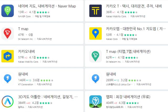 [와이즈앱 비교하기 #79] 12월 내비게이션 앱 사용자 동향