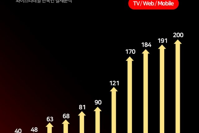 넷플릭스 한국 유료 이용자 200만 명 규모