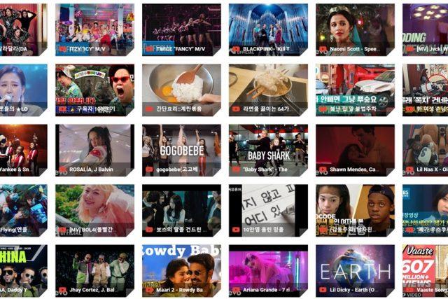 2019년 유튜브에서 가장 인기를 끈 동영상 TOP10